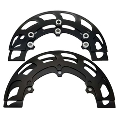 "Aluminum Sprocket Guard Set - 8"" Black"