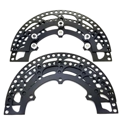 "Aluminum Sprocket Guard Set - 8 1/2"" Black"