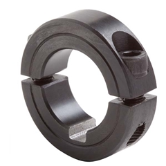 "Steel Lock Collar - Two Piece - 1 1/4"" bore - 1/4"" keyway"