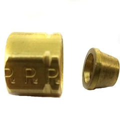 Brake Nut and Ferrule - 3/16""