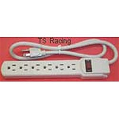 Power Strip with Switch & Six Plugs