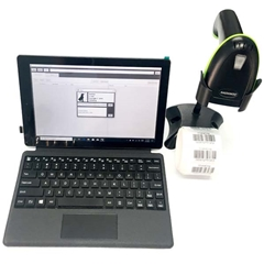 TechStar Complete Package - Software, Tablet Computer, 2D Scanner and Barcode Labels