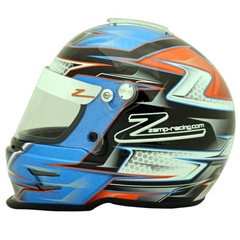 Zamp RZ-42Y Youth Helmet - Blue/Orange