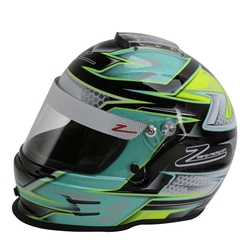Zamp RZ-42Y Youth Helmet - Green/Silver