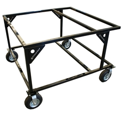 Double Kart Rack Stand - Oval - Black