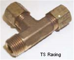 Brake Fitting T Run 1/8 NPT - 3/16 Fittings