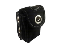 Transponder Pouch Black - Metal Locking Clasp