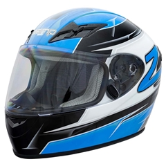 Zamp FS9 Adult Helmet - Blue and Silver