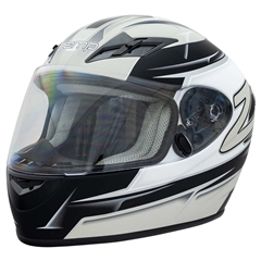 Zamp FS9 Adult Helmet - Silver and Black