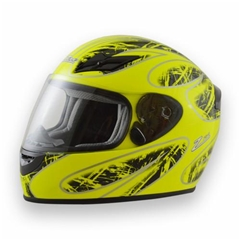 Zamp FS8 Adult Helmet - Green/Black - Medium