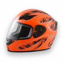 Zamp FS8 Adult Helmet - Orange/Black - Large