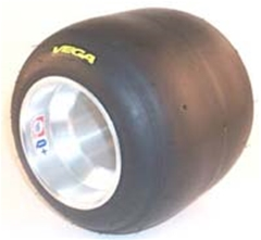 Vega MCS Thin Yellow Tire & Wheel Set - Mounted