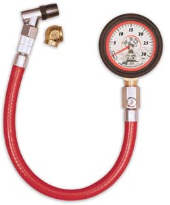 Longacre Tire Gauge 0-30 lbs, 2 in, 1/4 psi