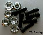 "Sprocket Hub Short Bolt Kit 1/4-28 x 3/4"" w/Nuts"